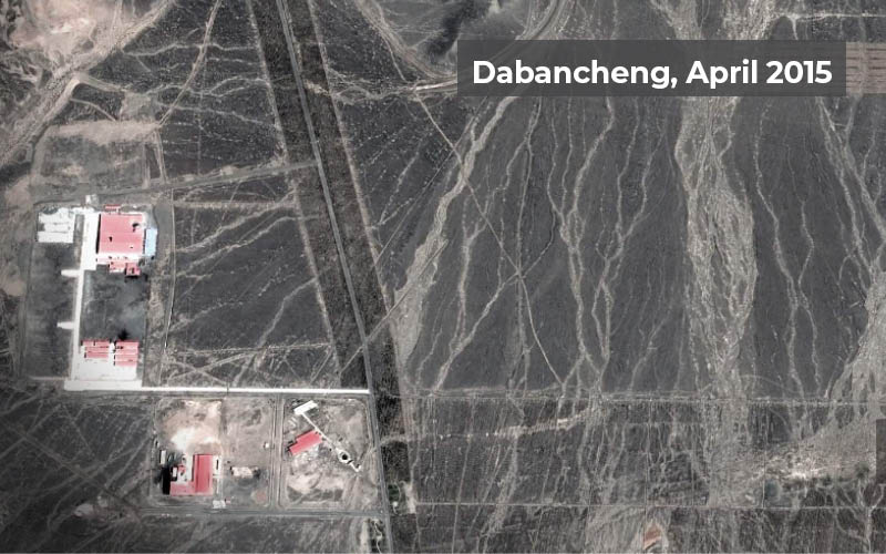 A set of imagery from 2015 to 2018 shows how China's re-education camps in Xinjiang have grown over the years | Courtesy: BBC/Google Earth/ESA